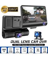 4'' 170° HD 1080P 3 Lens Car DVR Dash Cam Vehicle Video Recorder Rearvie... - £32.10 GBP
