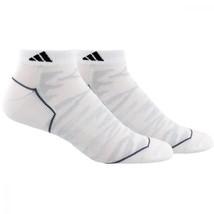 ADIDAS Superlite Climalite 2-Pair No Show Cut Socks White Men's sz (6-12) - $15.99
