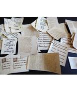 VTG lot of 60 Poem Friendship Inspirational Wisdom Quotes Saying Ceramic... - $59.40