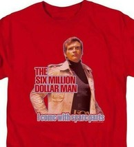 The Six Million Dollar Man Retro 70's Sci-Fi TV series graphic t-shirt NBC534 image 2