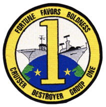 """4.88"""" NAVY CRUISER DESTROYER GROUP ONE EMBROIDERED PATCH - $23.74"""