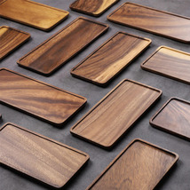 Musowood Acacia Rectangle Wooden Tea Tray Serving Table Plate Snacks Food - $14.00