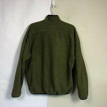 WoolRich Fleece Jacket Men's Medium Olive Green Full Zip Thick Fleece image 9