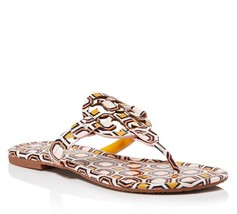 Tory Burch Women's Vachetta Leather Flat Thong Sandals 5 - $118.31