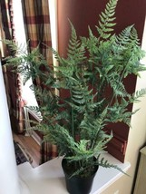 Pottery Barn Faux Potted Tree Fern 36H Home Decor Plant New - $79.00