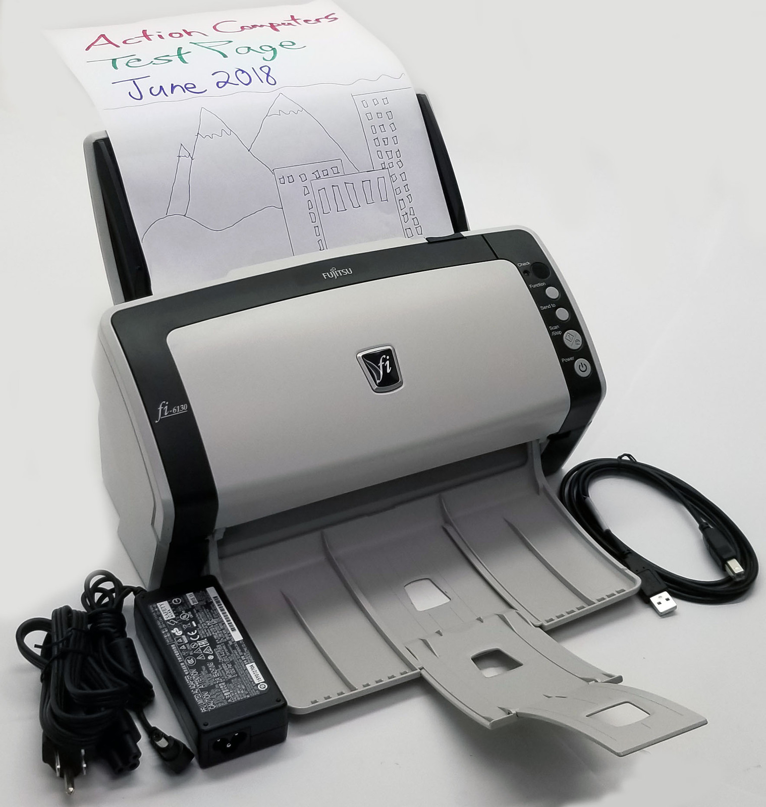 Fujitsu Fi-6130 Duplex Document Scanner 600 DPI Bin:13