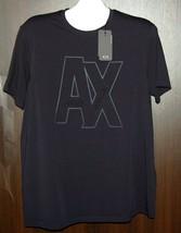Armani Exchange Navy  Logo Design Cotton  Men's T-Shirt Size XL - $48.91