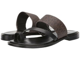 MICHAEL Michael Kors Pratt Slide Sandals Brown/Black Mult Sz - $84.00