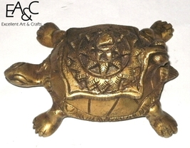 Brass Made Statue of Tortoise Ash Box - $19.00