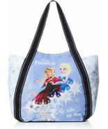 Disney Frozen Anna Elsa Diaper Bag Big Balloon Tote Sky Blue White Japan... - $60.78