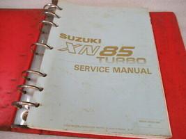 Suzuki 1991 XN85 Turbo Service Manual Binder P/N 99500-36020-03E - $21.25