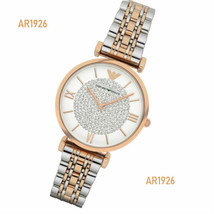 Emporio Armani Silver Two-Tone Crystal Pave Dial Ladies Watch AR1926 - $171.58 CAD