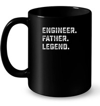Family Papa Gifts Engineer Father Legend Ceramic Mug - $13.99+