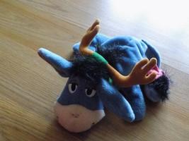 Disney Winnie the Pooh Reindeer Eeyore Bean Bag Plush Donkey Holiday Mattel - $15.00