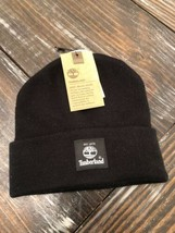 Timberland Black Knit Hat Beanie Winter Ski Cap OSFA Unisex BRAND NEW! - $24.75