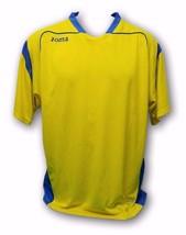 "Joma Men's Athletic Soccer Jersey Yellow Short Sleeve V-Neck T-Shirt ""XL"" - $16.82"