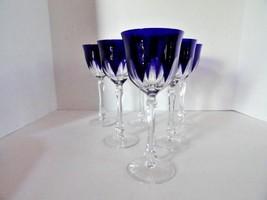 Faberge regency goblets in cobalt  blue crystal - $795.00
