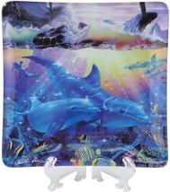 Ocean Dance Dolphins Whale Decorative Glass Dish Christian Riese Lassen NiB - $19.95