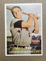 1957 Topps #177 Ed Yost Baseball Card Washington Senators EX Condition RF1 - $6.99