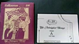 The Armistice Blouse Uncut Sewing Pattern Folkwear 210 Patterns from Tim... - $24.99
