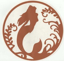 mermaid brown decal ideal cars, trucks, home etc easy to apply