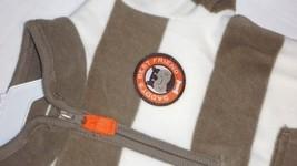 Carter's Fleece Jumpsuit Daddys Best Friend Coverall Romper Stripes 9M N... - $12.95
