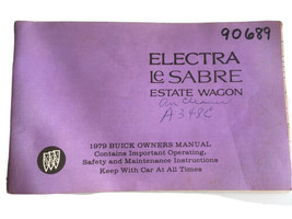Buick Electra LeSabre Estate Wagon 1979 Operator's Manual - $20.75