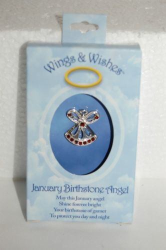 DM Merchandising Wings Wishes WGW01 January Birhstone Angel