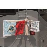 8 ARM CAMPER RV LAUNDRY DRYING RACK - Handmade Camping Clothes Hanger USA - $70.53