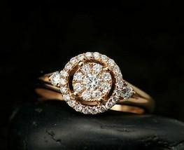2Ct Round Cut VVS1/D Diamond Unique Women's Engagement 14K Rose Gold Fin... - $116.10