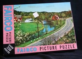 Fairco VTG jigsaw puzzle Sealed Around the bend 350 pieces farm Scene 13... - $23.85