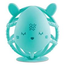 Tiny Twinkle Silicone Teether Toy - Mint Bunny - BPA Free Multi Textured, Suctio