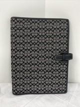 New Coach Signature Agenda Planner Slip Jacket Black Jacquard Leather B22 - $127.39