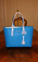NWT Michael Michael Kors Jet Set Medium Multi Function Tote in Summer Blue - $213.75