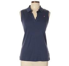 Lilly Pulitzer Sleeveless Polo Shirt Small S Navy Blue Top Pima Cotton - $31.49