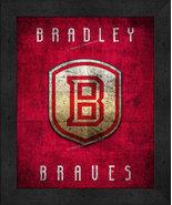 "Bradley Braves ""Retro College Logo Map"" 13 x 16 Framed Print  - $39.95"