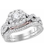 1CT Diamond Bridal Wedding Engagement Ring Set EGL Certified FG Color 14... - $704.82
