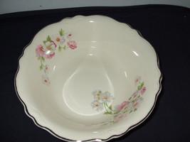 "Vintage Homer Laughlin Round Vegetable Bowl--""Fluffy Rose"" - $25.00"