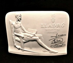 Lladro Spain Collectors Society Don Quixote White Bisque Advertising Pla... - £18.33 GBP