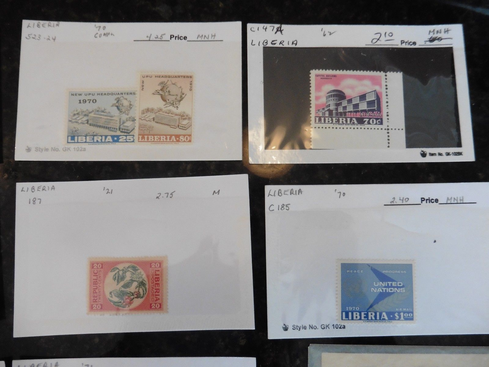 G31 LOT of stamps Liberia 1942 Fauna set monkey 1892 2 dollars 1909 20c flower +