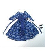 1960 Barbie Blue Floral Print LET'S DANCE Dress No 978 and Black High He... - $25.00