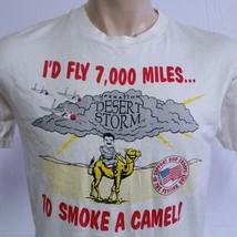 VTG 90s Gulf War T Shirt Desert Storm Camel Tee Saddam Hussein Gun Army Navy XL - $69.90