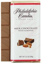 Philadelphia Candies Milk Chocolate with Almonds Bar, 3.5 Ounce Gourmet Candy - $5.89+