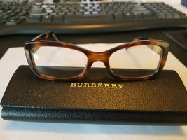 New Burberry B2130 Brown Tortoise 3316 Plastic Eyeglasses Frame Size 51-18 Italy - $45.05