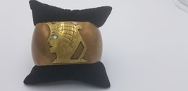"Vintage Copper Isis Egyptian God Cuff Bracelet Handmade 6 "" Around 3"" Ac... - $48.42"
