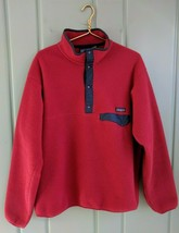 Vintage 1990's Patagonia Snap T Fleece Mens Large Red Pullover Jacket Na... - $93.84