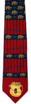 Bear Market Men's Necktie Vicky Davis Stockbroker Money Silk Blue Red Ne... - $19.75