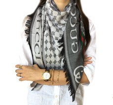 GUCCI Scarf & Unisex (*Double Layer*) Ultra soft Stylish HIGH QUALITY  B... - £30.41 GBP