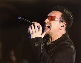 BONO U2 AUTOGRAPHED HAND SIGNED 11X14 Concert PHOTO Sunday Bloody Sunday... - $249.99