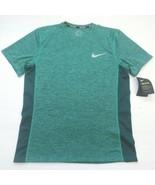 Nike Men Breathe Miler Running Shirt - AA4872 - Green 370 - Size M - NWT - $17.99